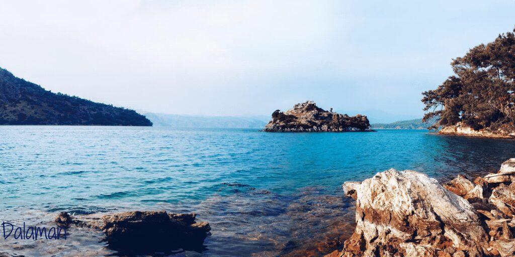 Blue sea views with landscape Dalaman