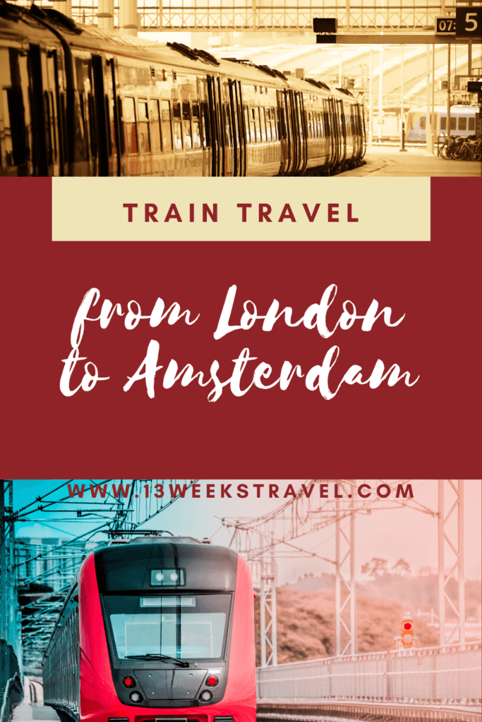 Train Travel From London to Amsterdam