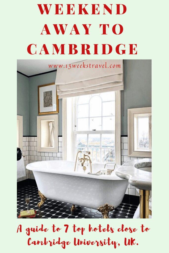 Weekend Away to Cambridge UK