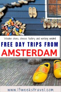 Best Family travel to Amsterdam   picture of yellow wooden shoes