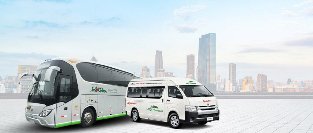 How to Travel to Africa White buses