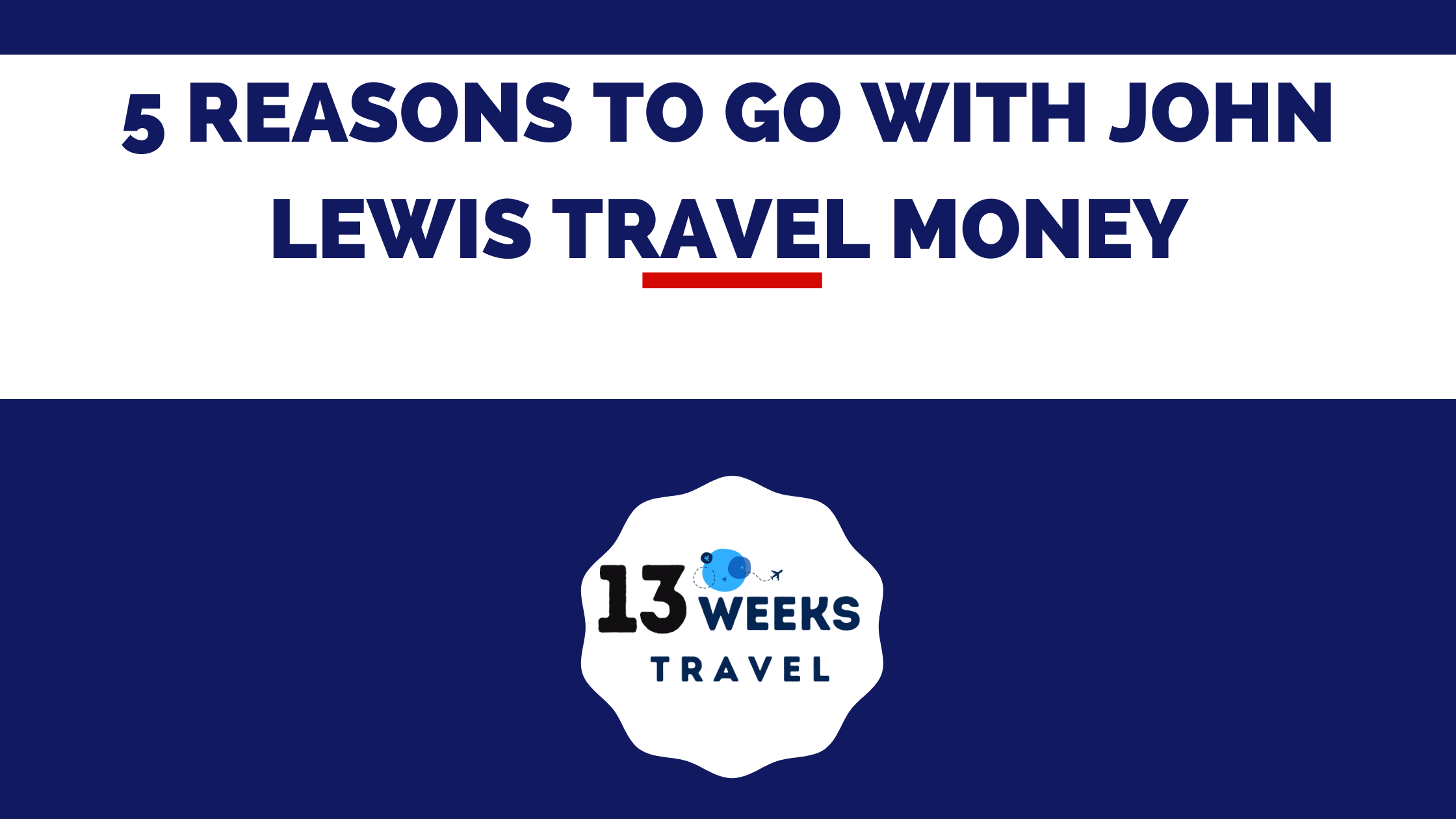 5 Reasons to go with John Lewis Travel Money bp