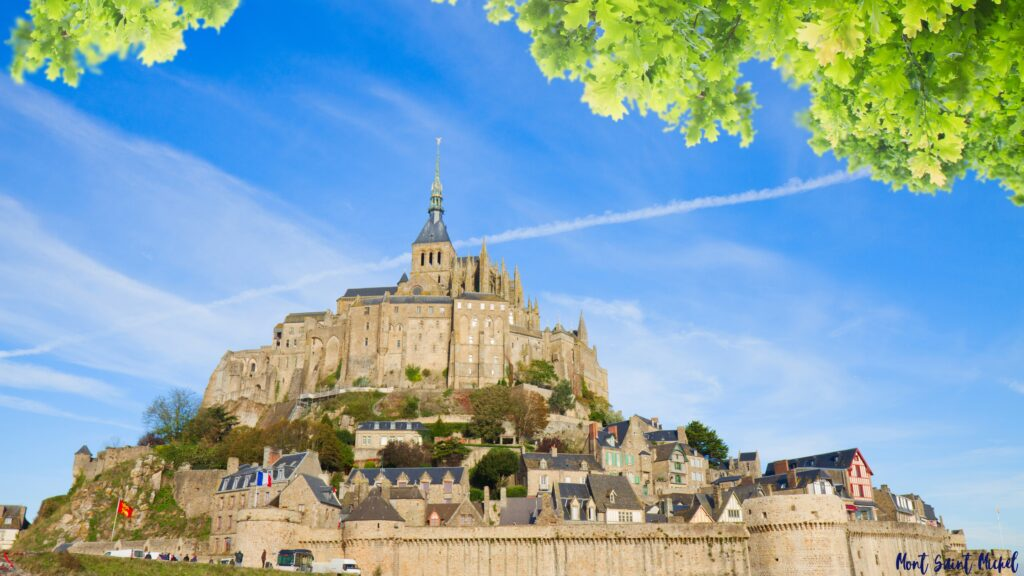 from London to France Mont Saint Michel