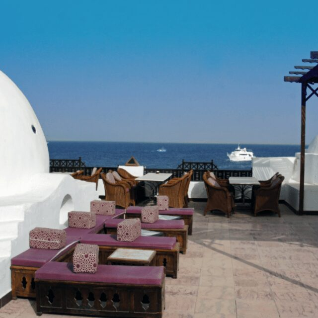 White dome roof at luxury hotel for all inclusive holidays Hurghada
